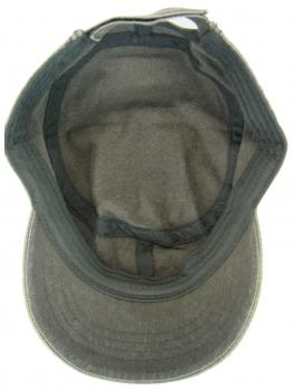 Military Cap Cuba Cap Used Washed Baumwolle Unisex, Khaki Detail 02