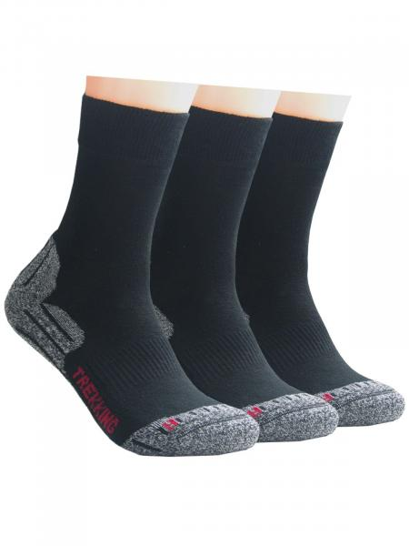 GROJADORI 3 Paar XL Trekking Socken Wandersocken Outdoorsocken, 47-50
