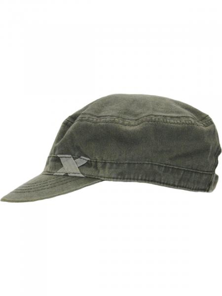 Military Cap Cuba Cap Used Washed Baumwolle Unisex, Khaki